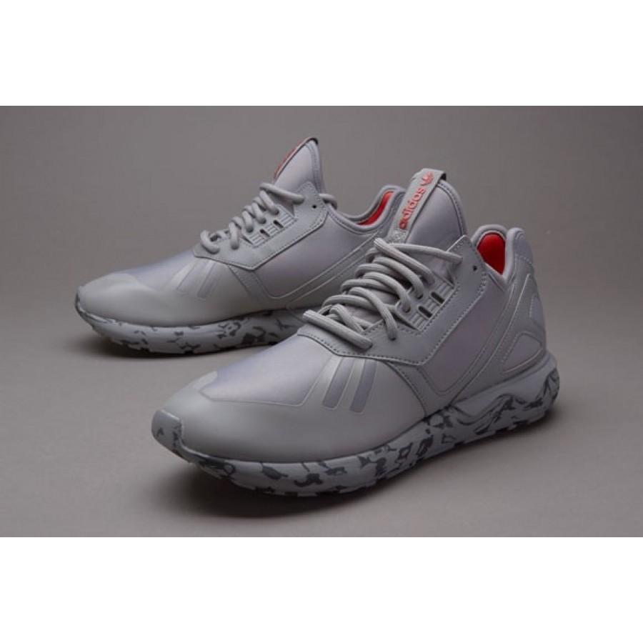 Adidas Tubular Runner Herren Schuhe Fest Grau Lush Red