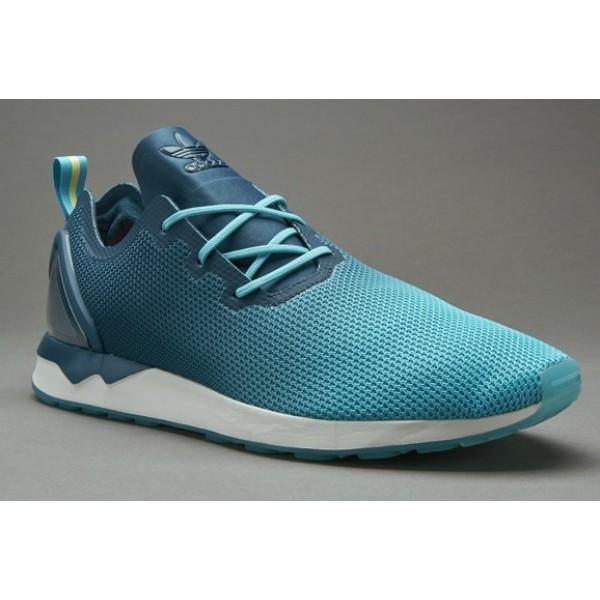 Adidas ZX Flux Racer Asym Herren-Schuhe Blau Glow ...
