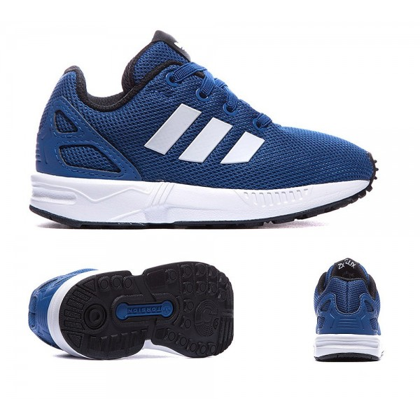 Adidas Originals Nursery ZX Flux-Trainer-Blau und ...