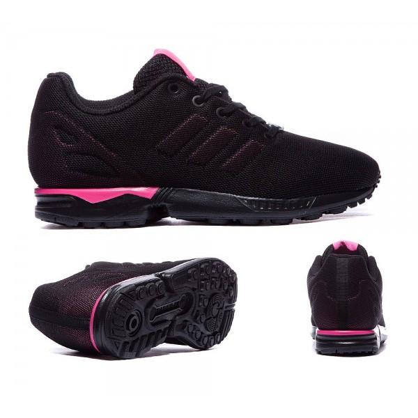 Adidas Originals ZX Flux Trainer Schwarz und Pink ...