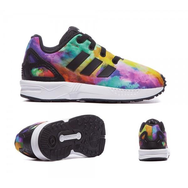 Adidas Originals Nursery ZX Flux Print Sneaker Schwarz und Weiß Online bestellen