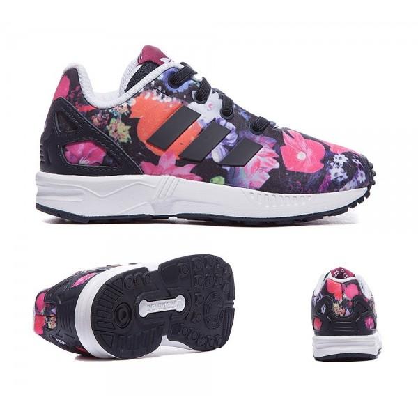 Adidas Originals Nursery ZX Flux Print Trainers Feste Magenta Online