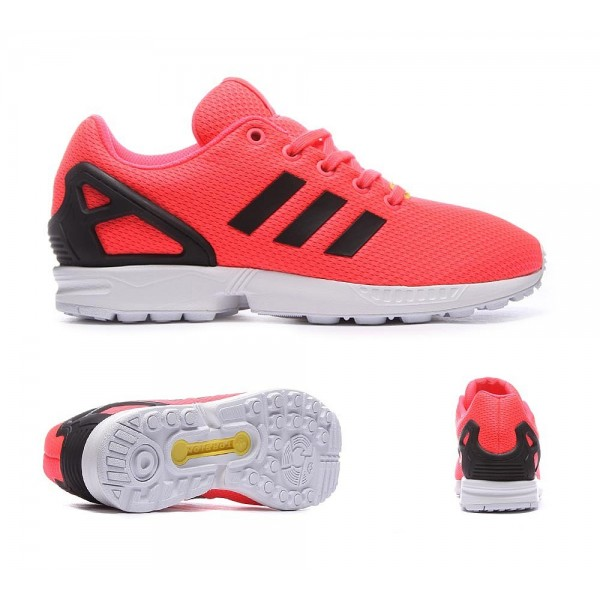 Adidas Originals Junior ZX Flux Trainer Flash-Rot ...