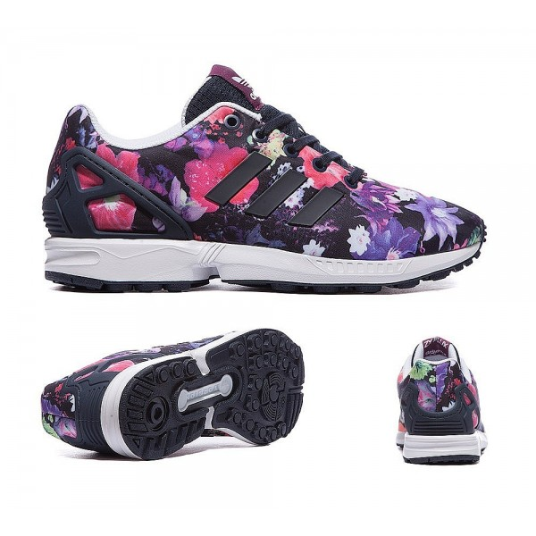 Adidas Originals Junior ZX Flux Print Trainer Mage...
