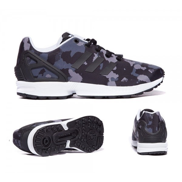 Adidas Originals Junior ZX Flux Print Sneaker Schw...