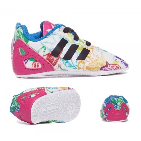 Adidas Originals Krippe ZX Flux Sneaker Weiß Schw...