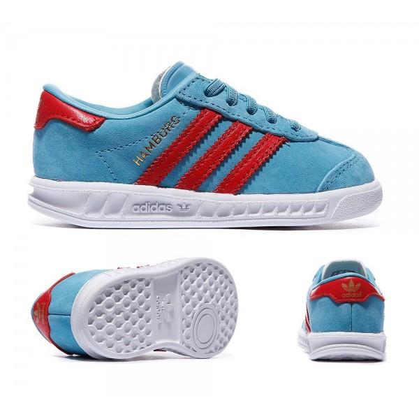 Adidas Originals Nursery Hamburg Trainer Sky und Lush Red Kaufen