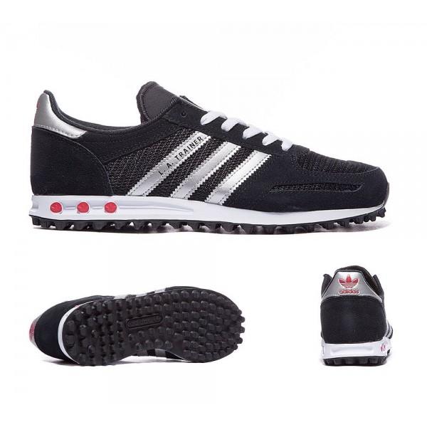 Adidas Originals Junior LA Trainer Schwarz und Sil...