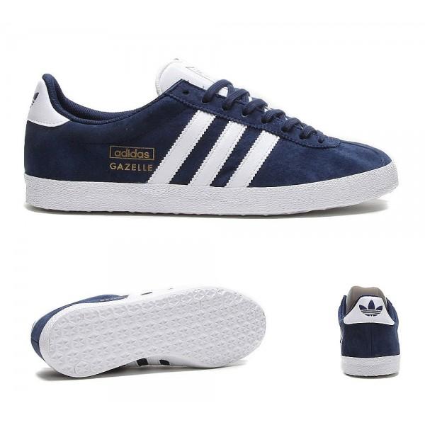 Adidas Originals Gazelle OG Trainer Indigo Weiß u...