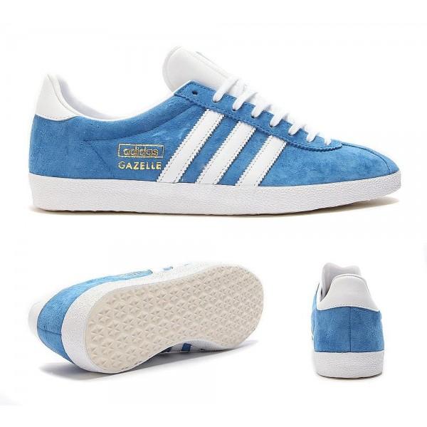 Adidas Originals Gazelle OG Trainer Blau Weiß und...