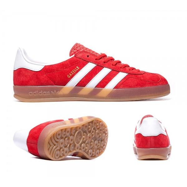 Adidas Gazelle Indoor Trainers Rot und Weiß Kaufen