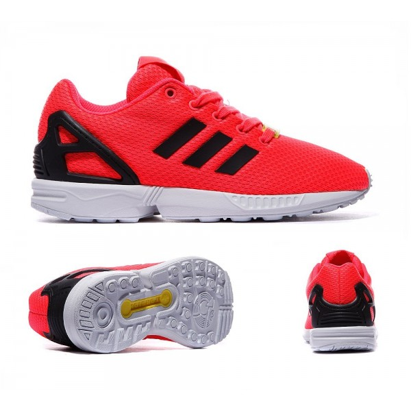 Adidas Originals Infant ZX Flux Trainer Flash-Rot ...