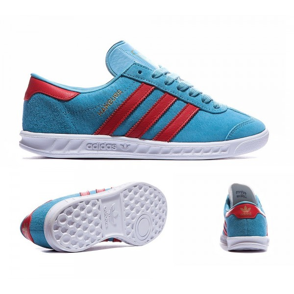 Adidas Originals Junior Hamburg Trainer Blanch Sky...