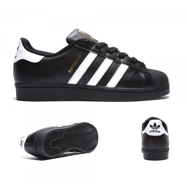 Adidas Originals Junior Superstar-Trainer Schwarzw...