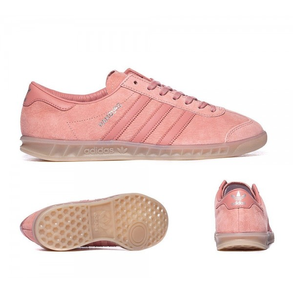 Adidas Originals Hamburg Trainer Raw Rosa und Gum ...