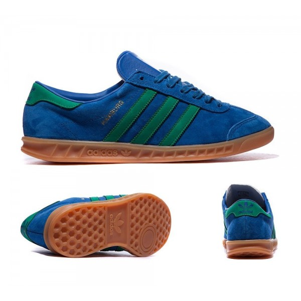 Adidas Originals Hamburg Trainer Lush Blau und Grün Outlet