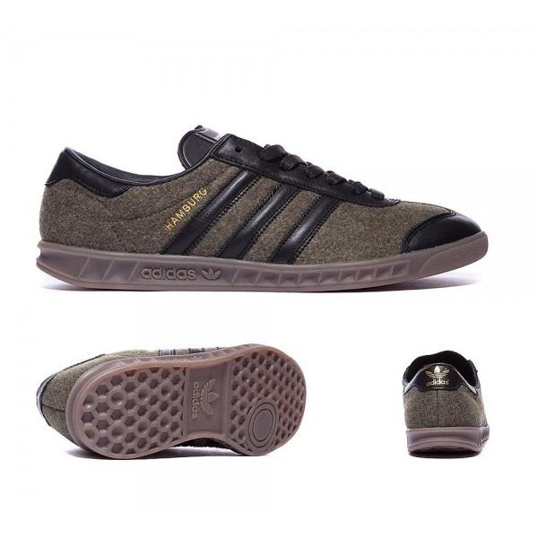 Adidas Originals Hamburg Trainer Jungle Ink Black und Gum Verkaufen