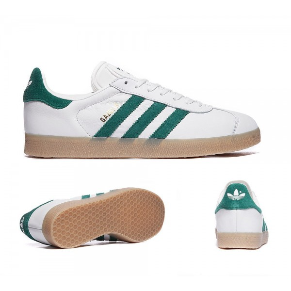 Adidas Originals Gazelle OG Trainer Weiß und Grü...