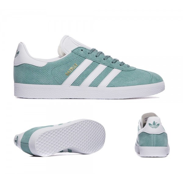 Adidas Originals Gazelle OG Trainer Vapor Steel und White Billig kaufen