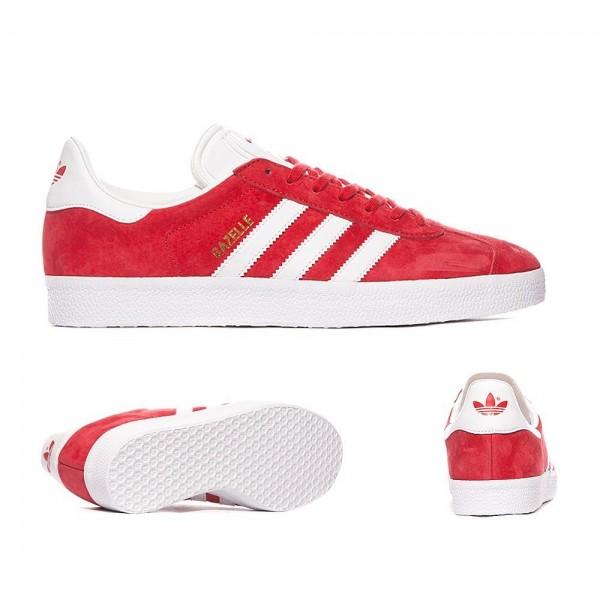 Adidas Originals Gazelle OG Trainer Scarlet und Weiß Bequem