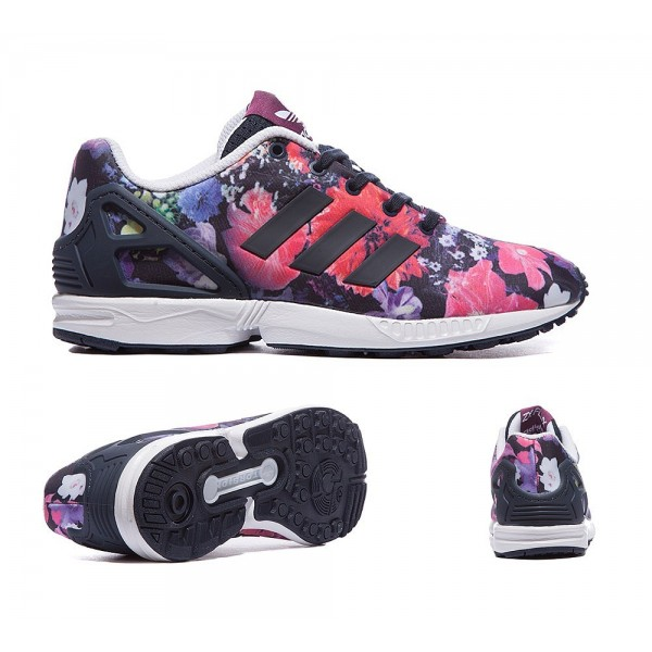 Adidas Originals Infant ZX Flux Print Trainers Magenta Online