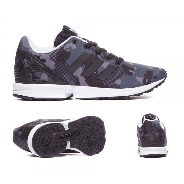Adidas Originals Infant ZX Flux Print Sneaker Schw...
