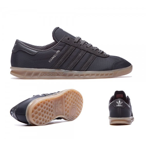 Adidas Originals Hamburg Tech Trainer Solide Grau und Gum Kaufen online