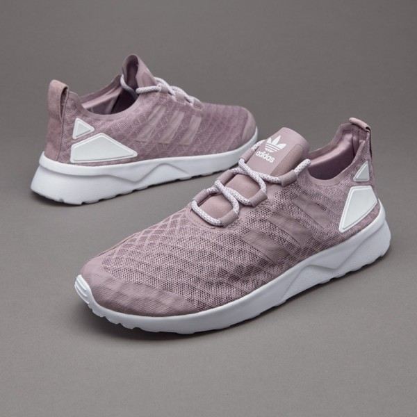 Adidas Damen ZX Flux Verve Blanch Lila Core-Weiß Kaufen