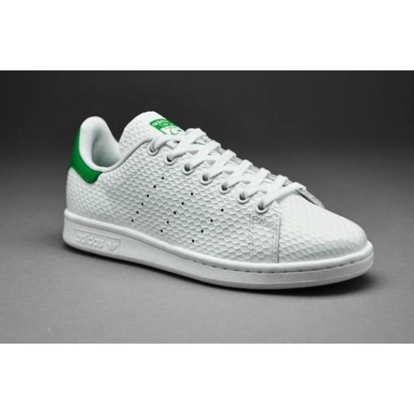 Adidas Damen Stan Smith Weiß Weiß Grün Versandk...