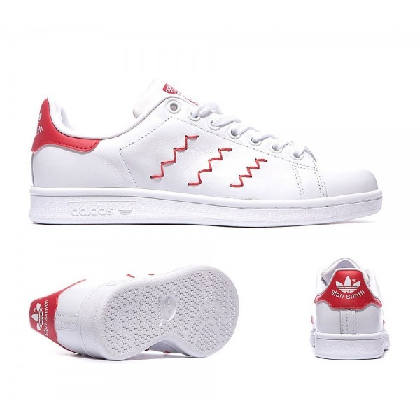 Adidas Originals Damen Zig-Zag Stan Smith Trainer Rot und Weiß Bestellen