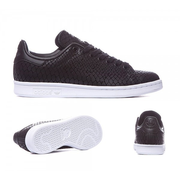 Adidas Originals Damen Stan Smith Croc Trainer Schwarz Versandkostenfrei