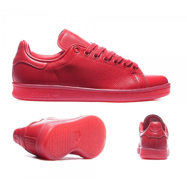 Adidas Originals Damen Stan Smith Adicolor Trainers Scarlet Billig