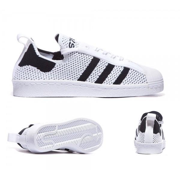 Adidas Originals Damen Superstar 80s Primeknit Trainer Weiß und Schwarz Online kaufen
