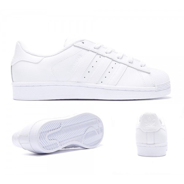 Adidas Originals Damen Superstar Foundation Sneaker Weiß Günstig kaufen
