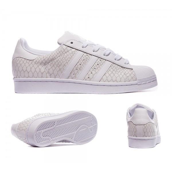 Adidas Originals Damen Superstar Croc Sneaker Weiß Spezialangebot