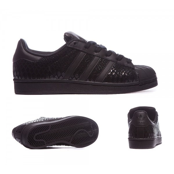 Adidas Originals Damen Superstar Croc Sneaker Schw...