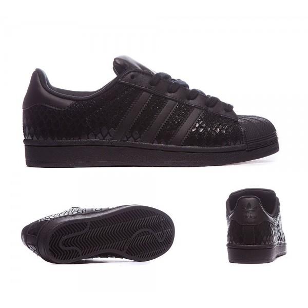 Adidas Originals Damen Superstar Croc Sneaker Schw...