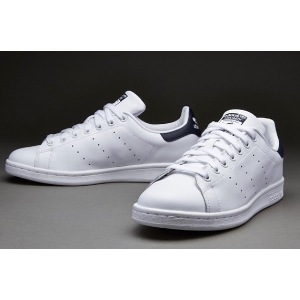 Adidas Stan Smith Lauf Weiß New Navy Billig