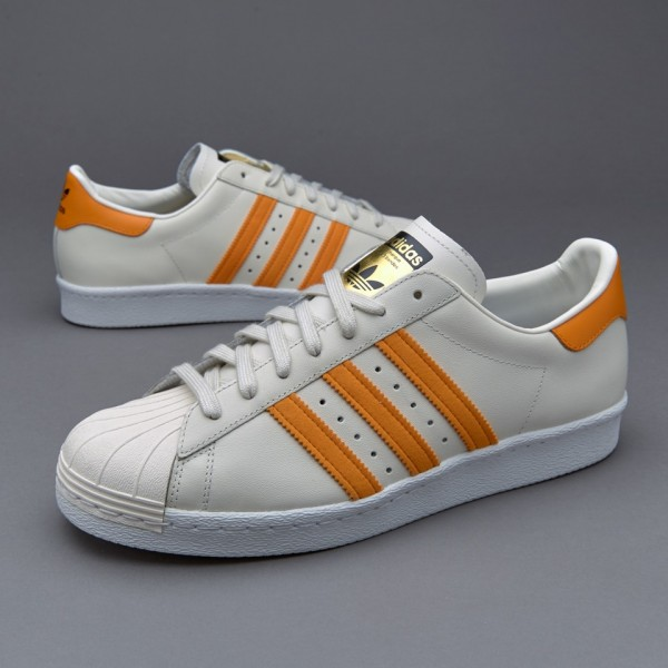 Adidas Superstar 80S Gum Sohle Off Weiß Orange Co...