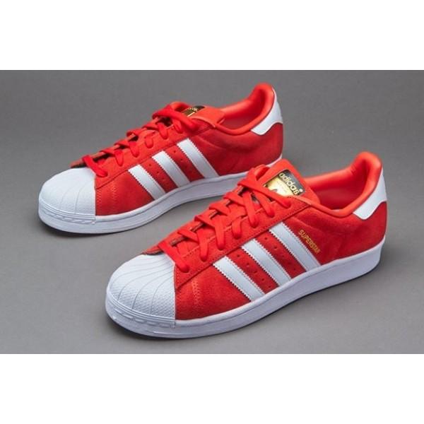 Adidas Superstar Suede Rot Weiß Rot Billig