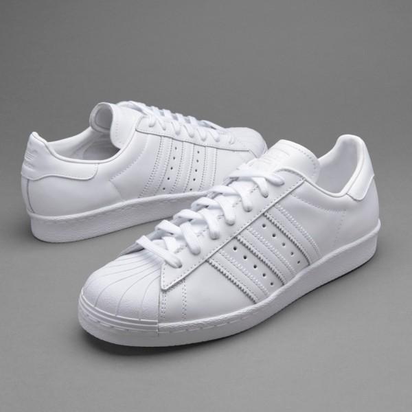 Adidas Superstar 80S Herrenschuhe Weiß Weiß Kern...