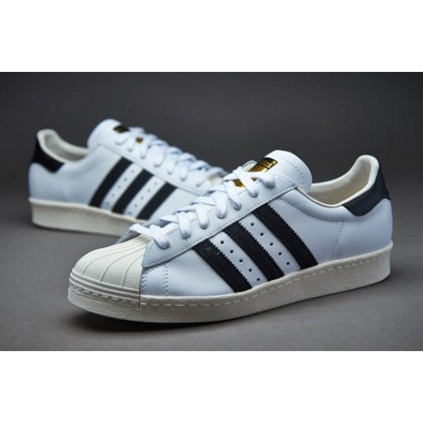 Adidas Superstar 80S Gum Sohle Weiß Schwarz Chalk...
