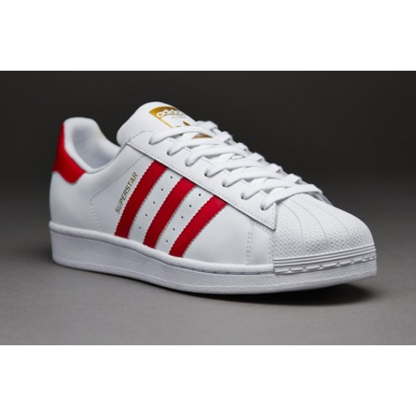 Adidas Superstar Foundation Weiß Scarlet Weiß G�...