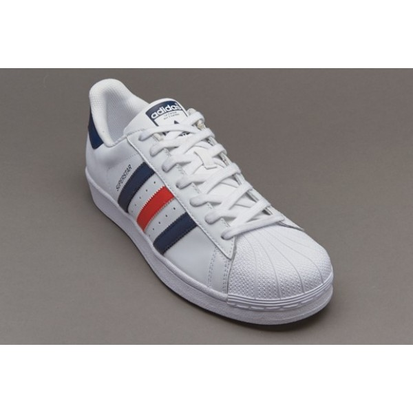 Adidas Superstar Foundation Weiß Collegiate Navy ...