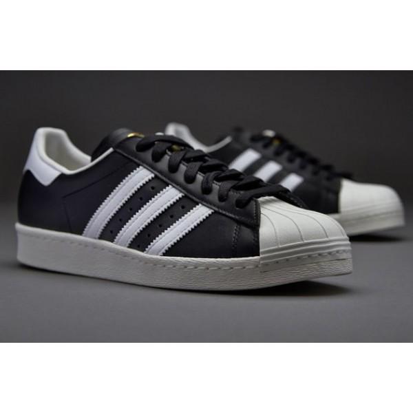 Adidas Superstar 80S Gum Sohle Schwarz Weiß Chalk...