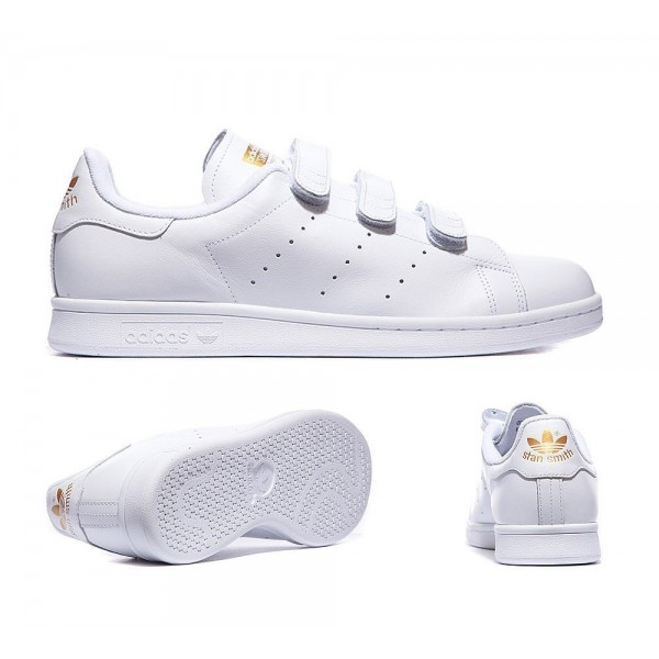 Adidas Originals Stan Smith Trainer Weiß und Gold...