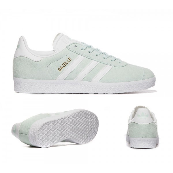 Adidas Originals Damen Gazelle Trainer Ice Mint und Weiß Online bestellen