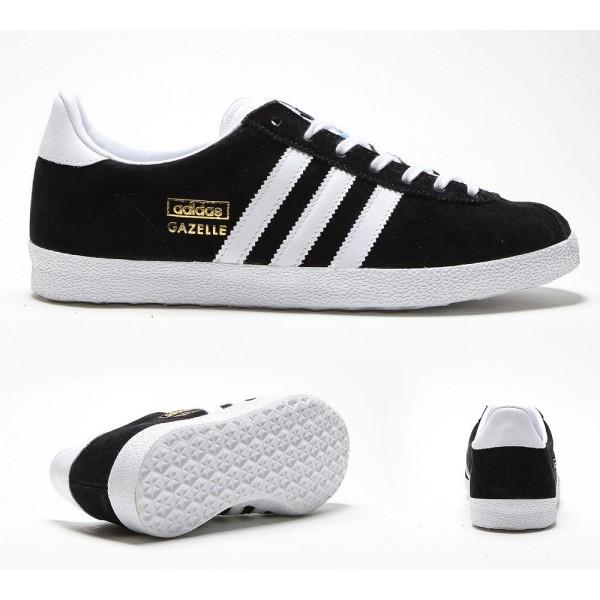 Adidas Originals Damen Gazelle OG Sneaker Schwarz und Weiß Online günstig