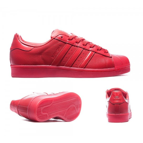 Adidas Originale Superstar Adicolor Trainer Scarle...