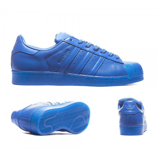 Adidas Originale Superstar Adicolor Trainer Blau Online